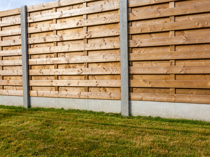 Large Commercial Wood Shadow Box Privacy Fence