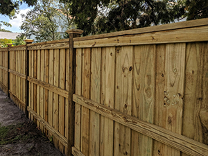 Estate Style Wood Fencing