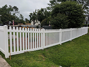White Picked Vinyl Fencing