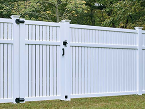 White Semi Private Vinyl Fencing