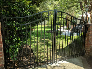ornimential aluminum security gate