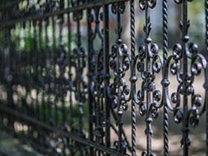 ornate ornamental steel fence