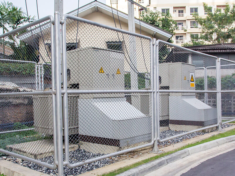 Commercial Chain Link Fence For Utility Companies