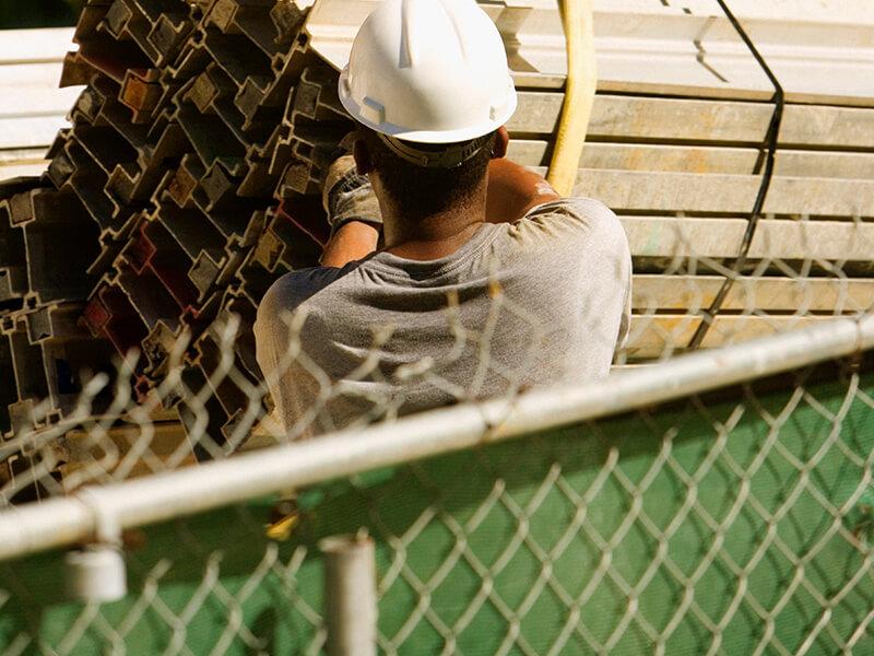 temporary construction fencing